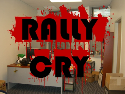 Black Comedy: 'Rally Cry' by Paul Adam Levy