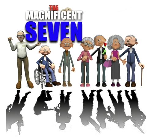 Comedic Drama Play Script: 'The Magnificent Seven' by O'Reilly & Churchill